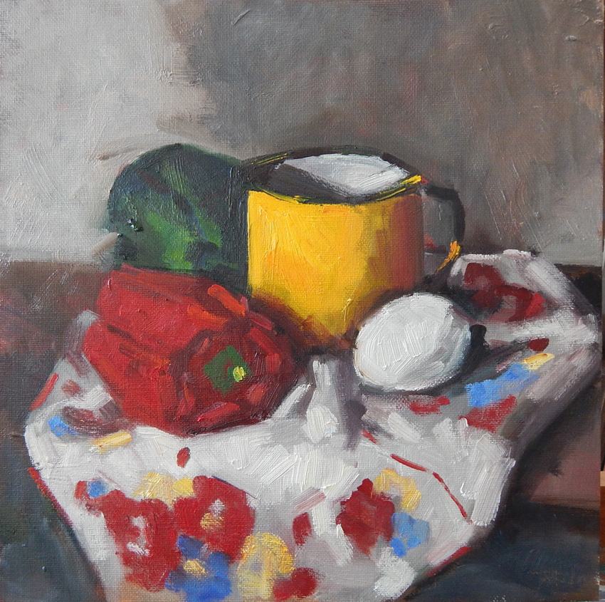 Still Life in Red, Yellow and Green